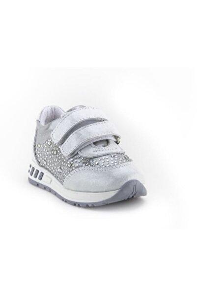 Toddler Kız Bebe Gümüş  Deri Ortopedik Ayakkabısı 21-25 0207