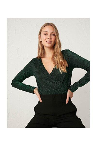 LC Waikiki Kadın Yeşil Bluz 0WFT38Z8