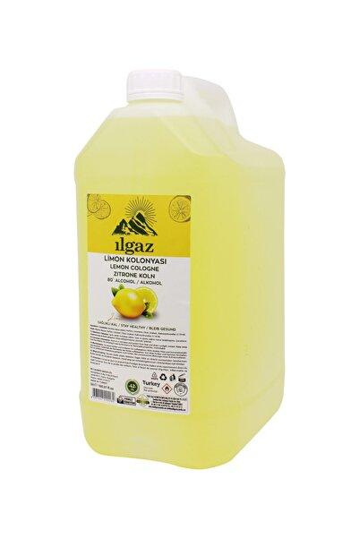 ILGAZ 5 Lt 80 Derece Limon Kolonyası Bidon Limon Kolonyası Yüksek Alkollü Kolonya