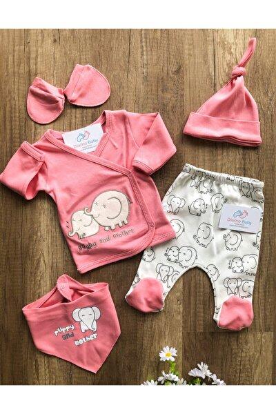 Nonna Baby Kız Bebek Pembe Filli 5'li Hastane Çıkışı Seti