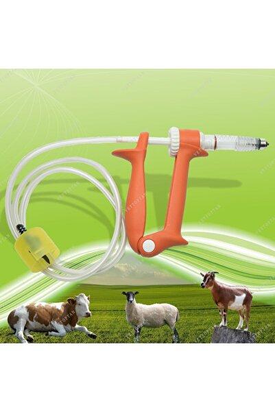 STELLA MODA Otomatik Enjektör Hortumlu 5 Cc Küçükbaş Büyükbaş Hayvan Aşı Tabancası Enjektörü Koyun Keçi Oğlak