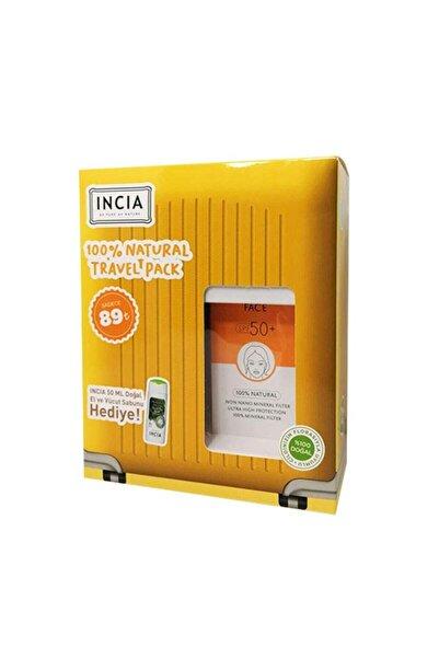Incia %100 Doğal Yüz Güneş Kremi Spf 50 Kofre 50 ml