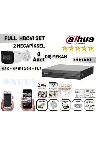 DAHUA 8 Kameralı Xvr1b08 Hfw1200tlp 1tb Harddisk Hdcvı Ahd Full Hazır Set