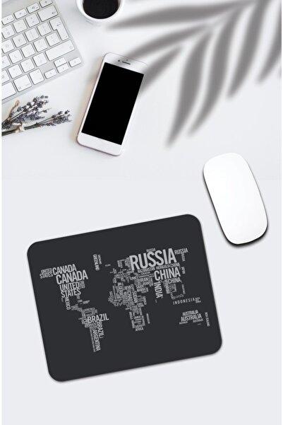 pixolog Dünya Haritası Desenli Mouse Pad 625