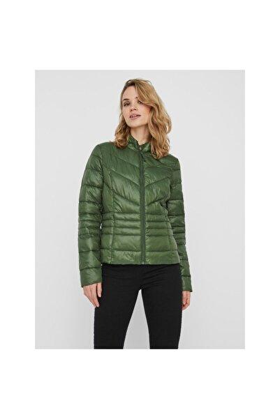 Vero Moda Kadın Yeşil Tek Renk Kısa Mont Ceket 10230860