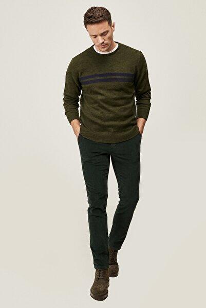 ALTINYILDIZ CLASSICS Erkek Yeşil Slim Fit Dar Kesim Yan Cep Kadife Kışlık Pantolon