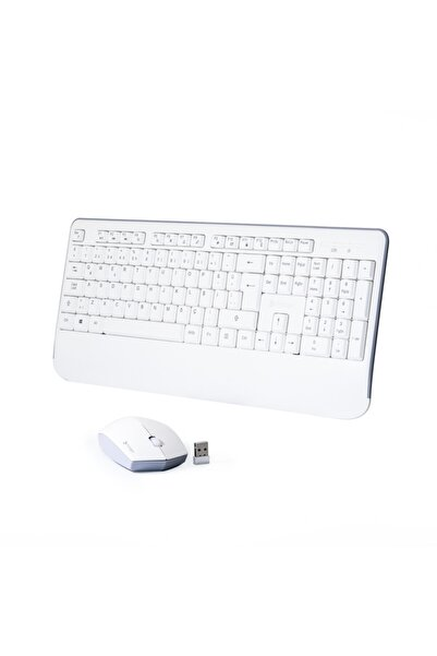 TRILOGIC Chic Kbw501 Beyaz Multimedya Kablosuz Q Klavye Mouse Set
