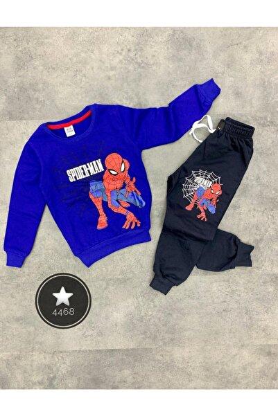 SPIDERMAN Erkek Çocuk Mavi Spiderman Çocuk Takım