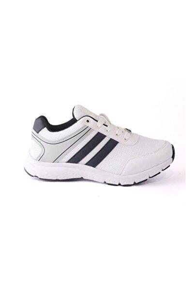 LETOON 4240 Beyaz Lacivert Yürüyüş Kadın Spor Ayakkabı
