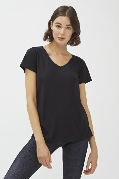Penti Siyah Dance V Neck Tişört