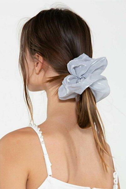 H&E DESIGN Kadın Gri Organze Saç Lastik Toka