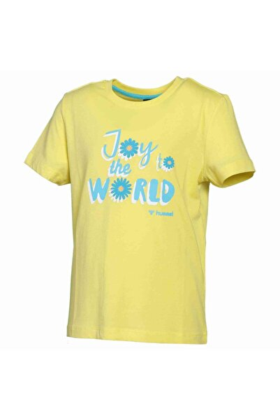 HUMMEL Unisex Çocuk Sarı Daısy Kısa Kollu T-Shirt