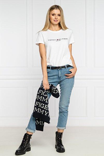 Tommy Hilfiger Kadın Beyaz T-shirt Ww0ww28681