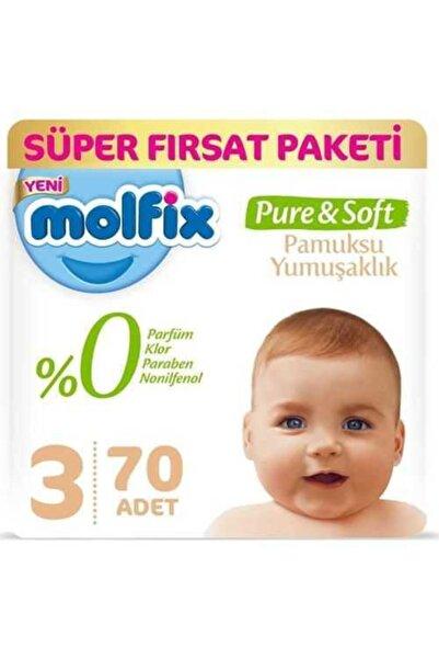 Molfix Pure&Soft Bebek Bezi 3 Beden Midi 70 Adet