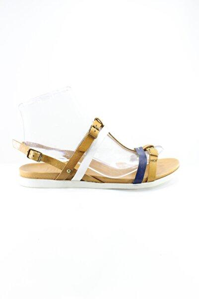 İnci Kadın Sarı Hakiki Deri Sandalet