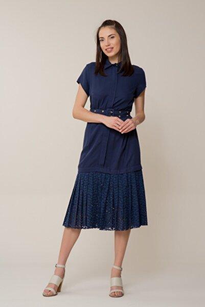 GIZIA CASUAL Kadın Lacivert Güpür Elbise M18YEW02113FL