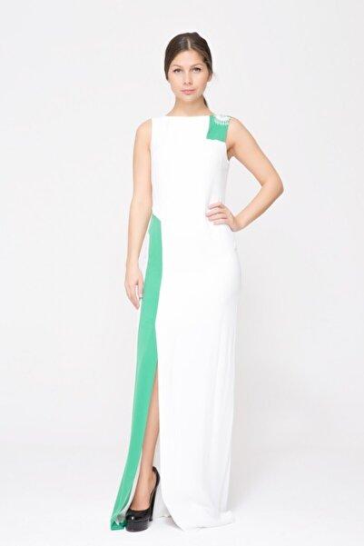 GIZIA CASUAL Ön Yırtmaçlı Uzun Elbise