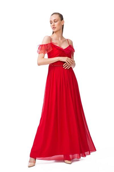 GIZIA CASUAL Kadın Kırmızı İp Askılı Elbise M17KEZ13512AD