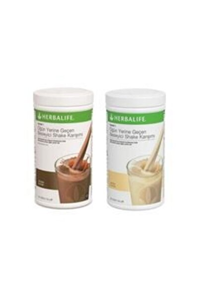 Herbalife Shake Karışımı 1 Adet Çikolata + 1 Adet Vanilya Shake 550 gr
