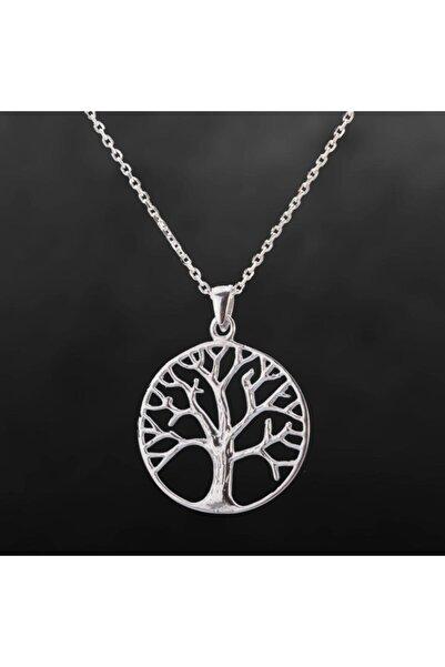 Anı Yüzük Gümüş Taşsız Hayat Ağacı Kolyesi