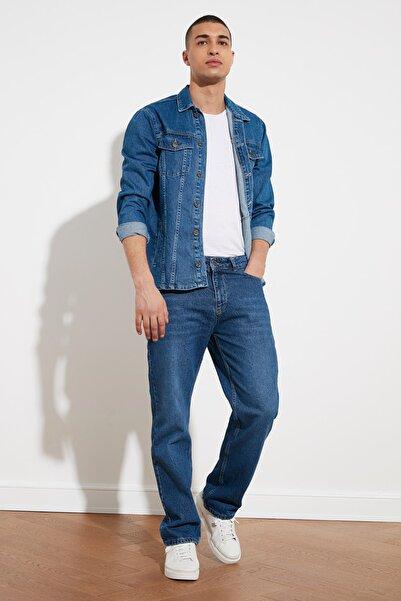 TRENDYOL MAN Mavi Erkek Regular Fit Jeans TMNSS21JE0201