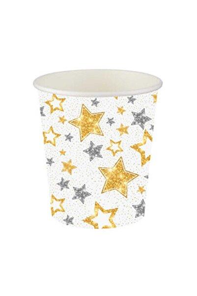 Roll-Up Karton Bardak Yıldızlar Beyaz