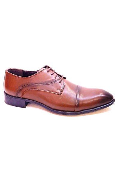 PUNTO Erkek Klasik Hakiki Deri Ayakkabı Taba