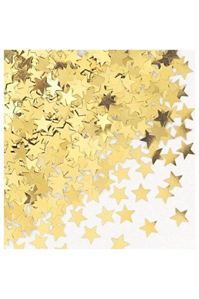 ELITETIME 10 gr Balon İçi Pul Konfeti Yıldız Altın 2 cm