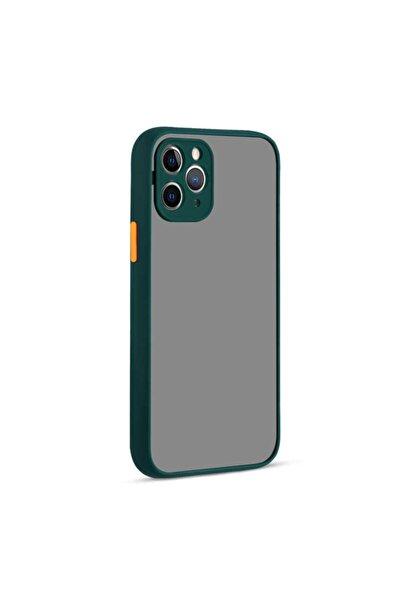 zore Koyu Yeşil Apple Iphone 12 Pro Max Uyumlu Kılıf Hux Kapak