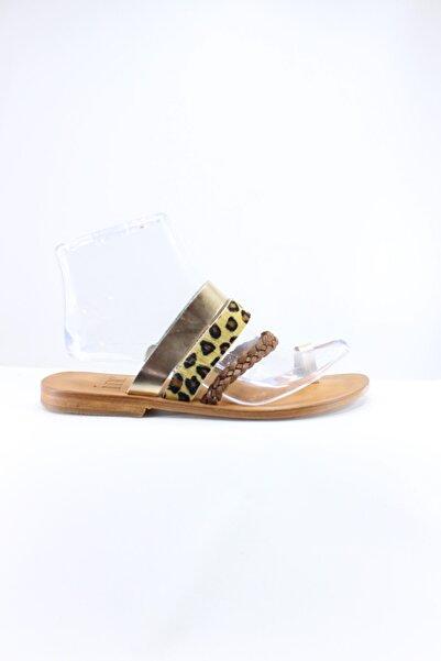İnci Kadın Sarı Sandalet
