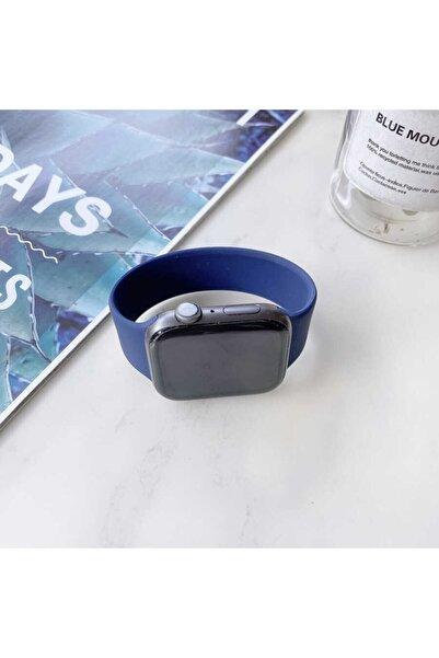 zore Apple Watch 42 mm Uyumlu Mavi Silikon Kordon