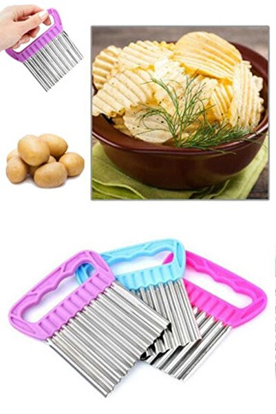 Mercan Cips Patates Doğrayıcı Şekilli Kesici Çelik