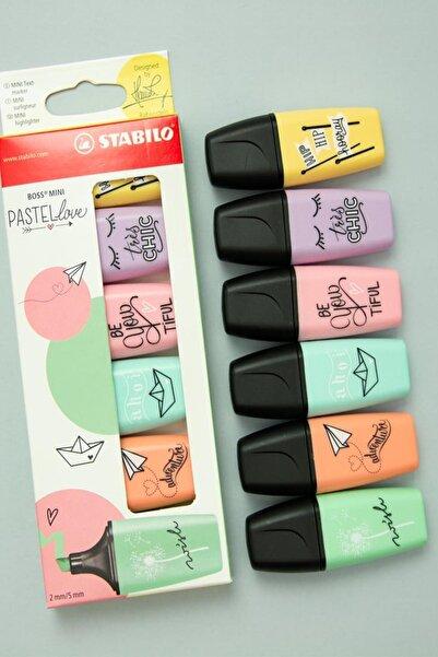 Stabilo Love Mini Boss Pastel 6lı Set Fosforlu Kalem