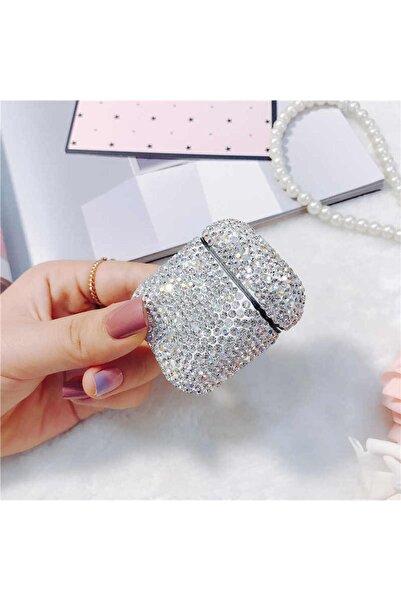 zore Gri Airpods 2 Nesil Uyumlu Diamond Gösterişli Taşlı Kılıf