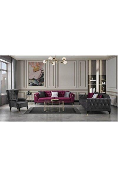 Özel Yapım Chester Modern Solon Yataklı Elegance Koltuk Takımı 3+3+1