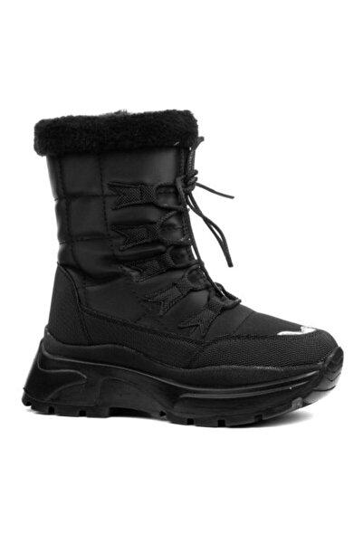 Twingo Kadın Siyah Kışlık İçi Kürklü Bot Ayakkabı