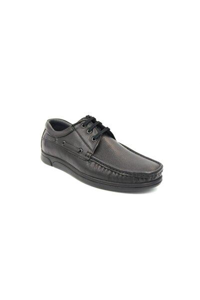 Modesa Erkek Siyah Hakiki Deri Günlük Ayakkabı