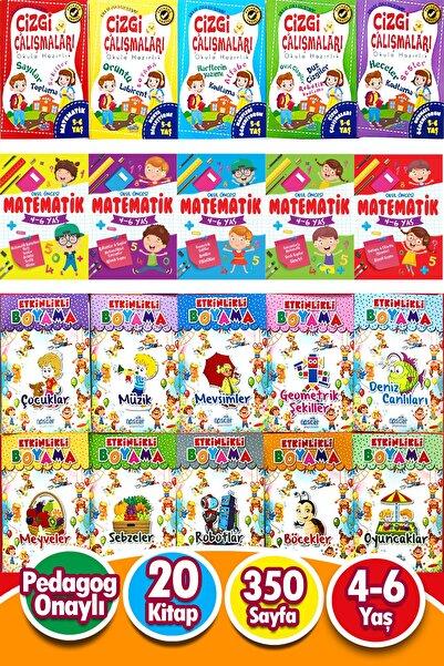 Ya-Pa Yayınları 5 - 6 Yaş - 20 Kitap Okul Öncesi Karma Eğitim Seti 350 Sayfa