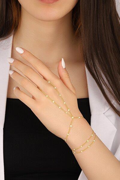 Lia Berto Kadın Altın Kaplama Pullu Zincir 925 Ayar Gümüş Şahmeran