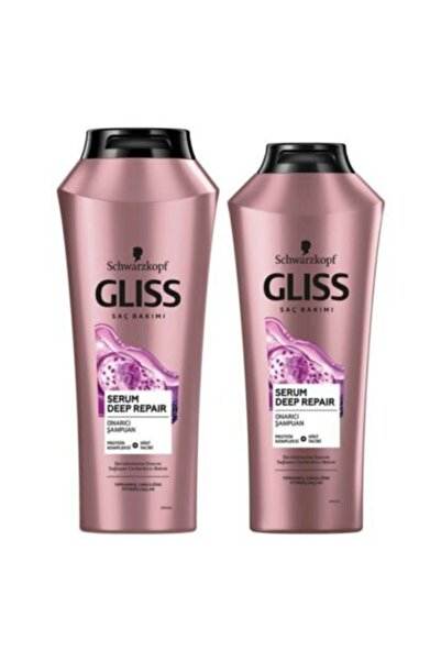 SCHWARZKOPF HAIR MASCARA Gliss Serum Deep Repair Şampuan 500 ml X 2 Adet