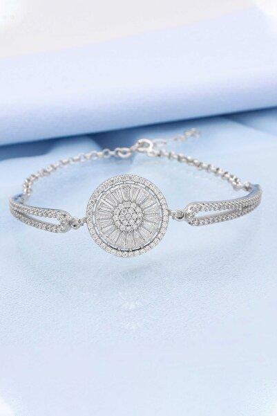 Else Silver Kadın Gümüş Baget Taşlı Bileklik