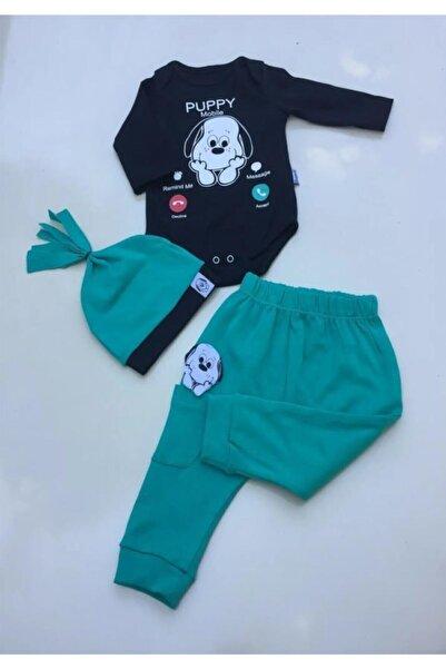 Miniworld Erkek Bebek Yeşil Badili 3 Parça Takım Pamuk Ürün