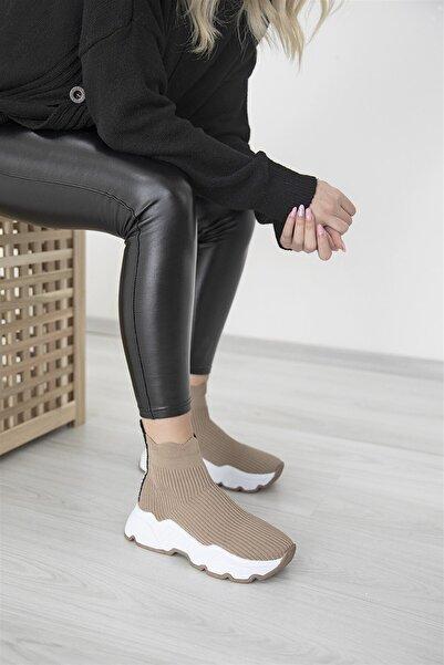 STRASWANS Kadın Bej Irina Streç Triko Nude Spor Ayakkabı