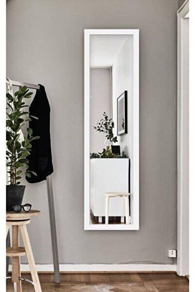 Hüma's Beyaz Dekoratif Retro Boy Aynası 140x48 cm