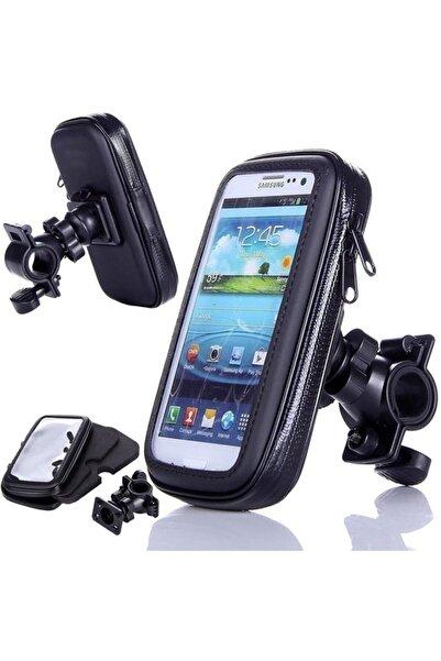 AldımGeldi Motor Telefon Tutucu Motosiklet Su Geçirmez Fermuarlı Tutacağı Telefon Boyutu 4.7-5.2 Inch