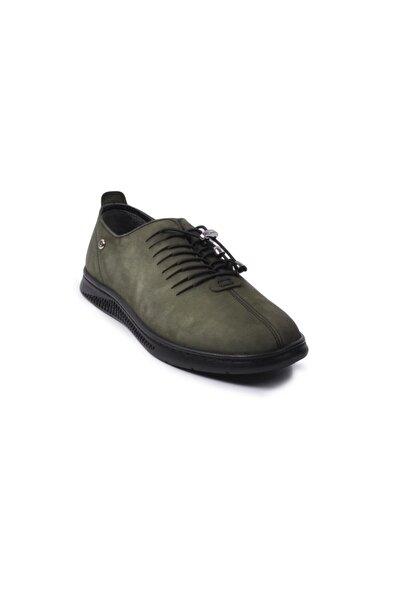 Pierre Cardin Erkek Yeşil Nubuk Hakiki Deri Ayakkabı