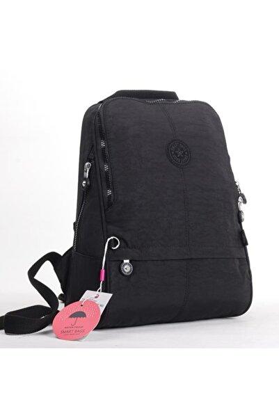SMART BAGS Kadın Siyah Krinkıl Kumaş Sırt Çantası 01 1117