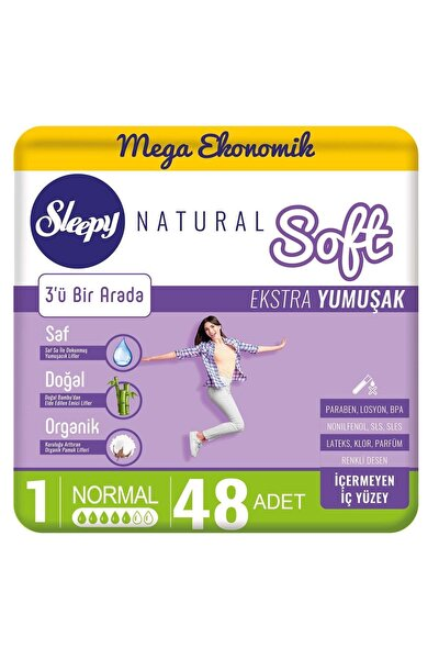Sleepy Natural Soft Ekstra Yumuşak Normal  48 Ped