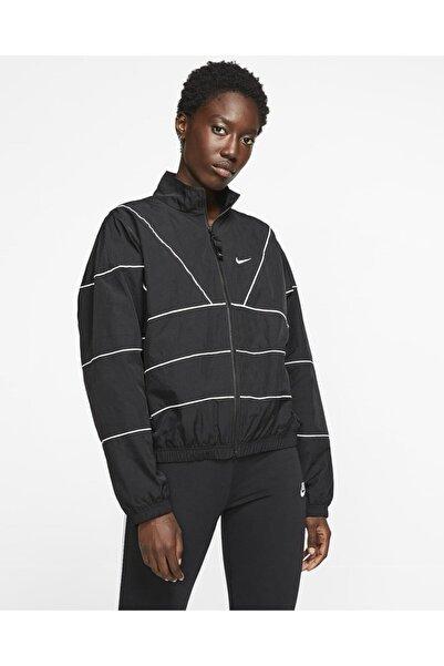 Nike Kadın Siyah Yağmurluk Cd6541-010