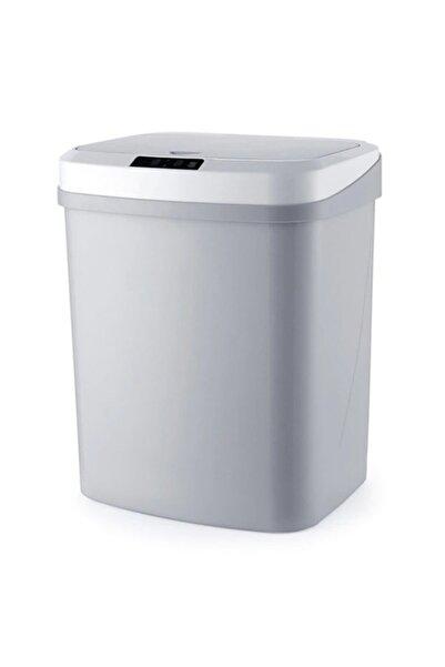 Ally Mobile Ezere 16l Akıllı Çöp Kutusu Otomatik Sensörlu Çop Tenekesi Çöp Kovası Gri